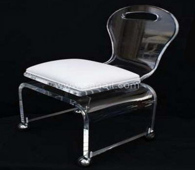 Acrylic desk chair with wheels