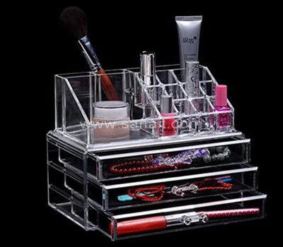 Clear acrylic cosmetics organizer