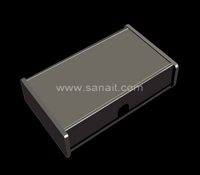 Black acrylic box with lid