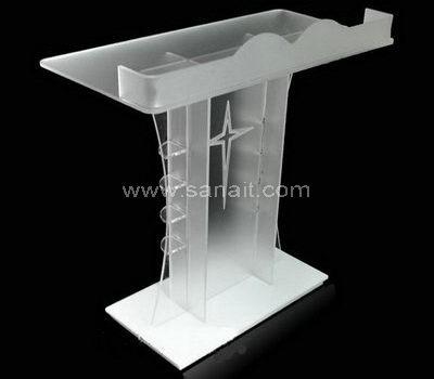 Acrylic lectern podium