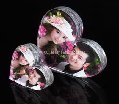 Heart shaped acrylic photo frame