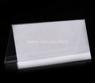 V shaped clear acrylic sign holder