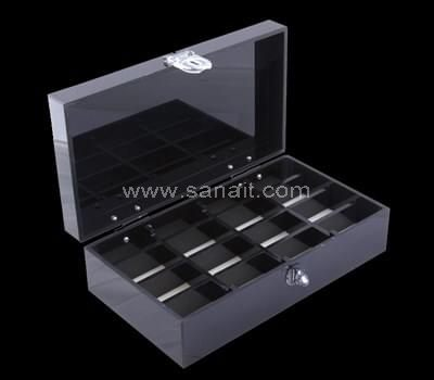 Custom black acrylic box