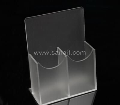 2 pockets acrylic brochure holder