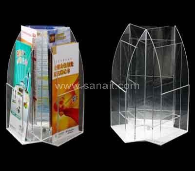 3 sided acrylic brochure holder