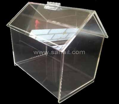 House shaped clear acrylic candy dispenser