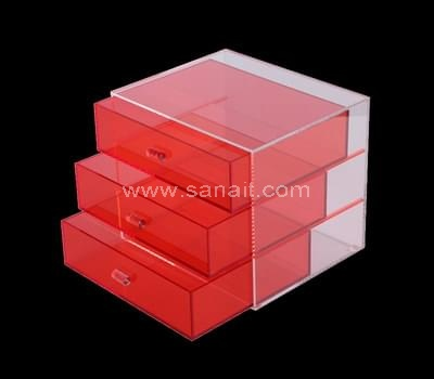 Acrylic box with translucent red drawer