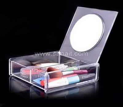 Acrylic organizer box with mirror