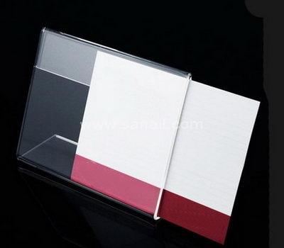 Landscape orientation acrylic menu holder