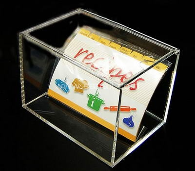Personalized acrylic recipe box