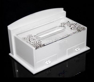 White acrylic tissue holder