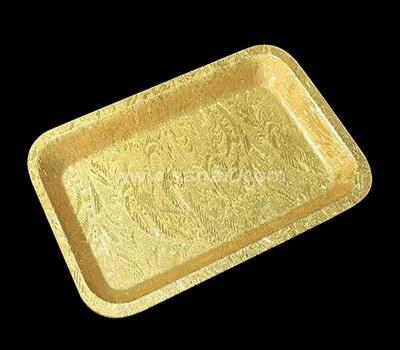 Gold acrylic tray