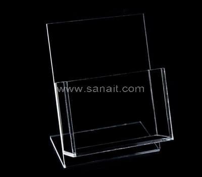 Clear plastic brochure holders