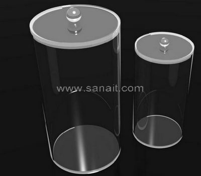 Clear acrylic cylinder container