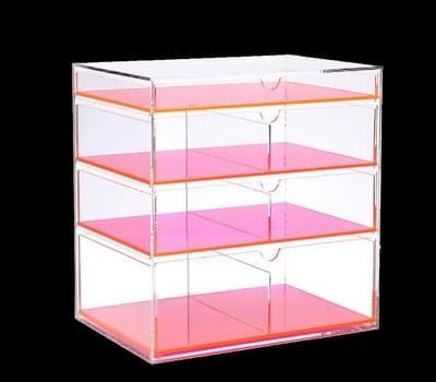 Color acrylic drawer box