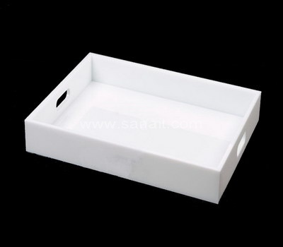 White acrylic serving tray