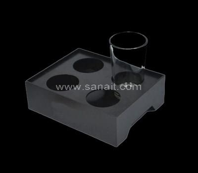 Black acrylic glass holder