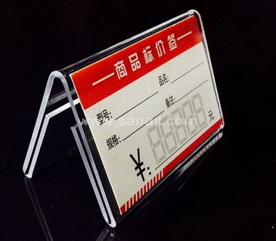 Acrylic shelf talker holders