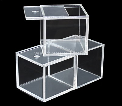 Perspex box with sliding lid
