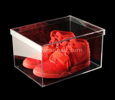 Clear acrylic shoe box