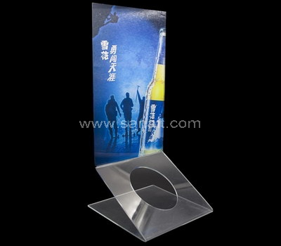 Stand up acrylic sign holder
