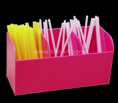 Acrylic straw holder