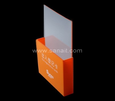 Orange acrylic brochure holder