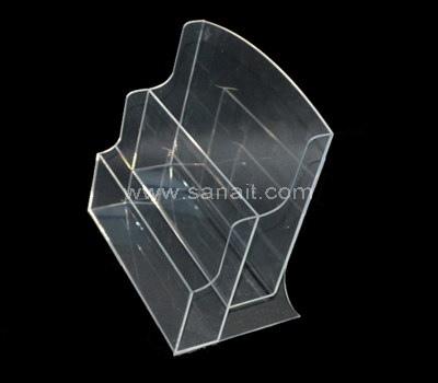 Custom clear 2 tier acrylic brochure holder
