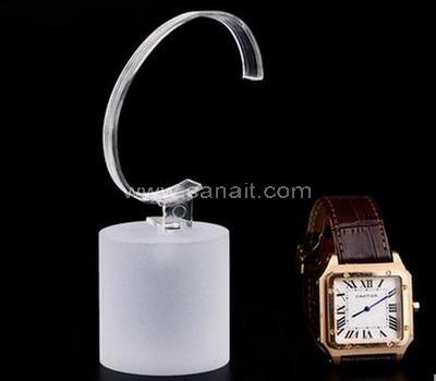 Sand blasting acrylic watch display