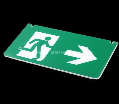 Wall mounted acrylic green running man exit sign