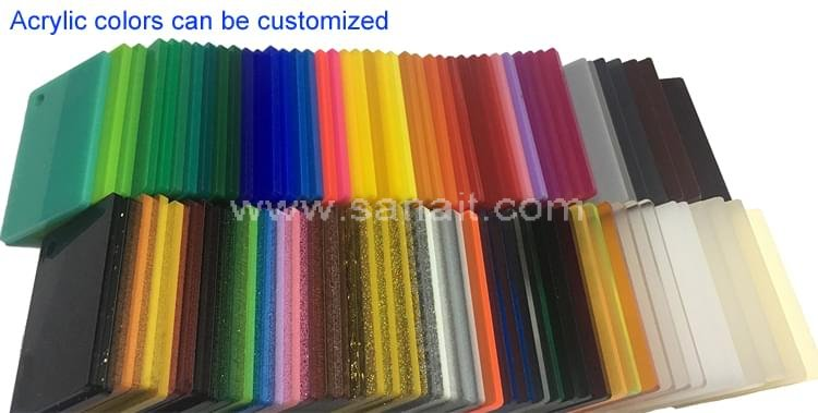 Acrylic colors can be customized
