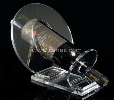 Single wine bottle display holder