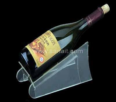 Elegant acrylic wine bottle display stand