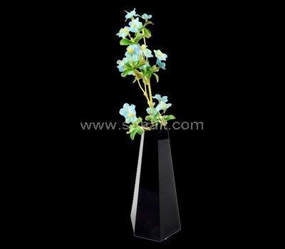 Black acrylic vase