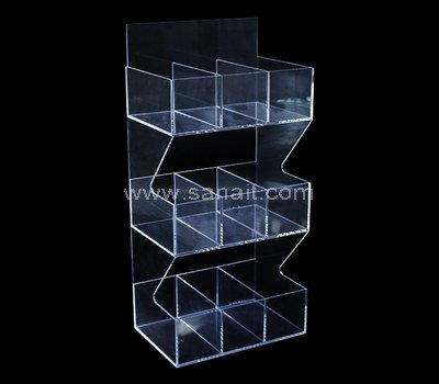 Clear acrylic display organizer rack