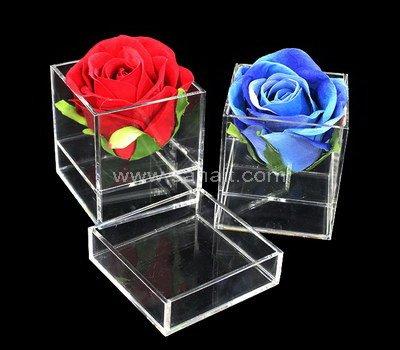 Acrylic box for 1 flower