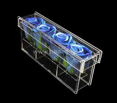 Clear acrylic boxes for 4 flowers