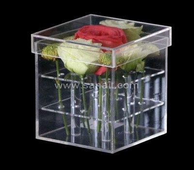 Plexiglass flower box with 9 holes