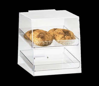 Custom acrylic bread display case