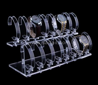 2 tier clear acrylic watch display stand