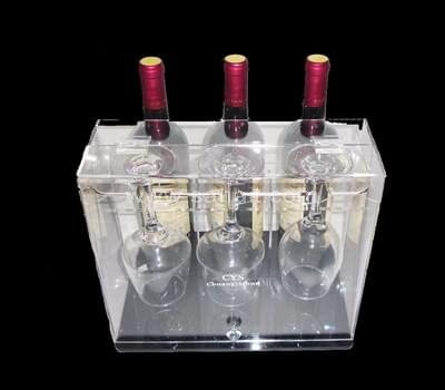 Acrylic wine bottle display case