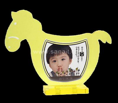 Horse shape acrylic photo frame
