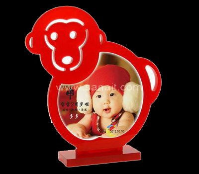 Monkey shaped acrylic photo frame