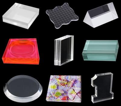 Custom acrylic block