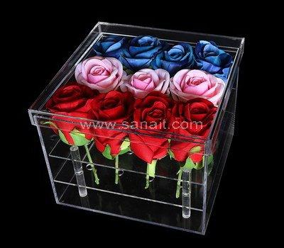 SAAB-115-1 Acrylic rose box with 16 holes