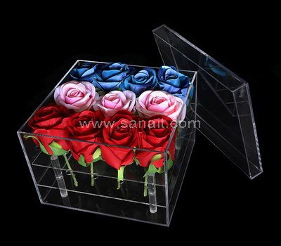 Acrylic rose box with 16 holes