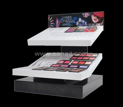Countertop acrylic makeup display stands