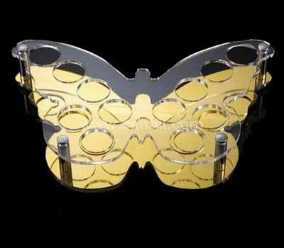 Butterfly shaped acrylic wine glasses holder