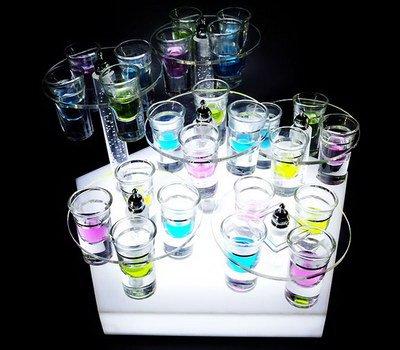 SAOT-125-1 LED display holder for shot glass