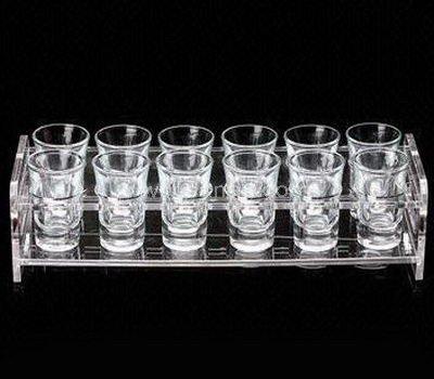 Clear acrylic shot glass holder